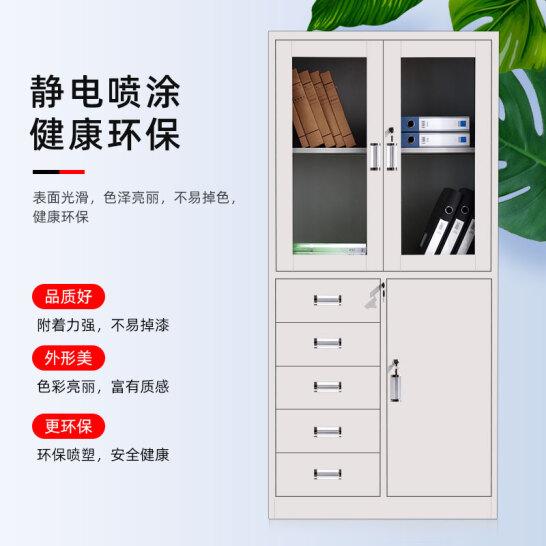 奈高WJG-07偏五斗文件柜办公柜钢制铁皮柜办公室资料柜普通款一个装