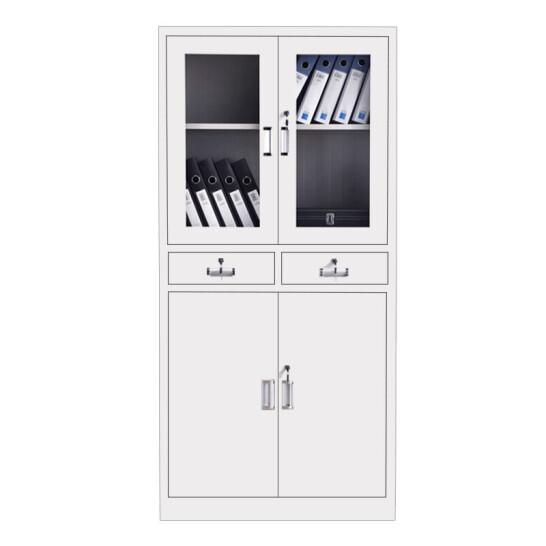 奈高中二斗文件柜办公柜钢制铁皮柜资料柜档案柜储物柜普通款单个装